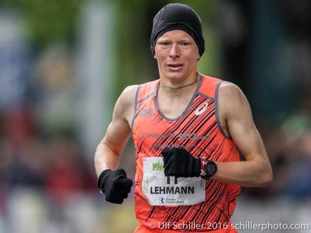 Adrian Lehmann wird Vierter beim Zürich Marathon 2016