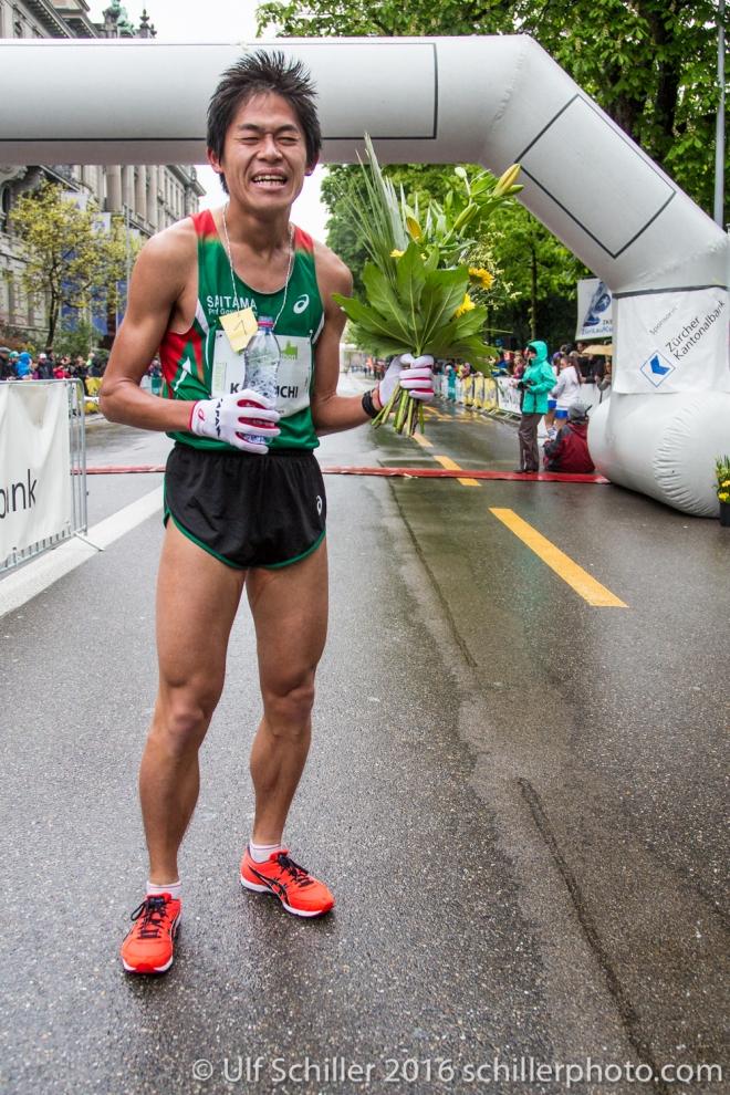 Yuki Kawauchi siegt beim Zürich Marathon 2016