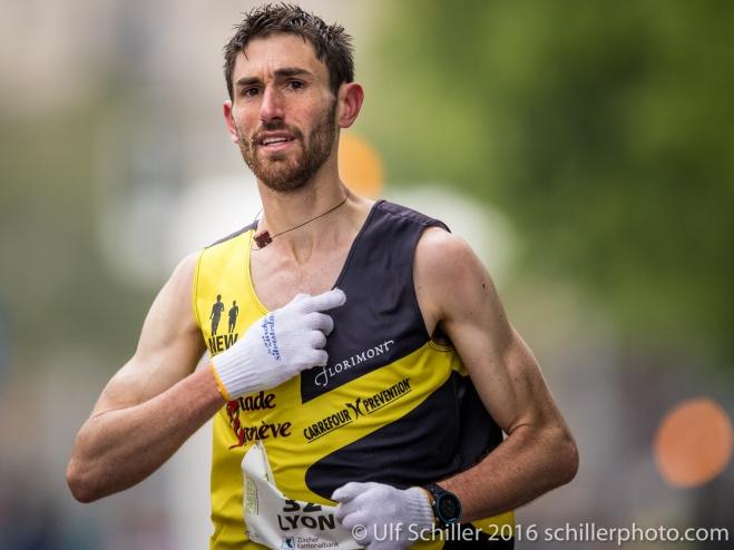 Julien Lyon wird Dritter beim Zürich Marathon 2016
