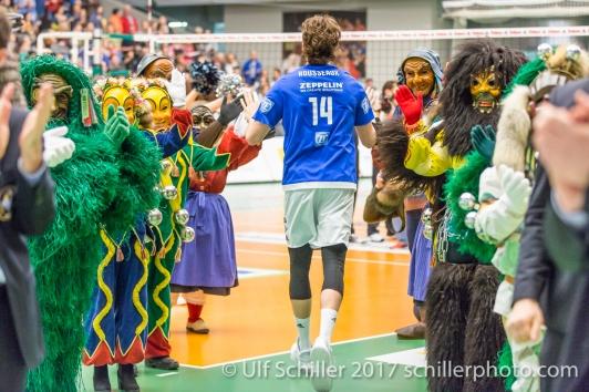 Volleyball 1. Bundesliga 2016/17: VfB Friedrichshafen vs TSV Herrsching am 04.02.2017 in der ZF Arena, Friedrichshafen, Deutschland