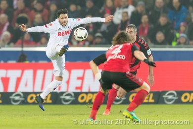 Leonardo Jesus Bittencourt (1. FC Koeln #21) Fussball 1. Bundesliga 20. Spieltag 2016/17: SC Freiburg vs 1. FC Koeln am 12.02.2017 in der Schwarzwald-Stadion, Freiburg, Deutschland