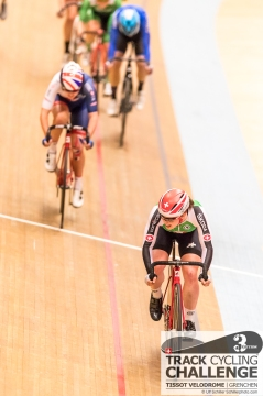 Andrea WALDIS (CPT - CLIF PRO TEAM, SUI) secures the third rank in the women's points race at the UCI TRACK CYCLING CHALLENGE 2017 on December, 20 2017 in Grenchen (Tissot Velodrome), Schweiz, Photo Credit: Ulf Schiller 2017