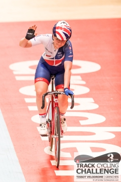 Emily KAY (GBR - GREAT BRITAIN NATIONAL TEAM, GBR) wins the points race at the UCI TRACK CYCLING CHALLENGE 2017 on December, 20 2017 in Grenchen (Tissot Velodrome), Schweiz, Photo Credit: Ulf Schiller 2017