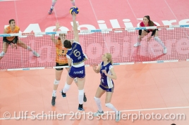 Gabi SCHOTTROFF (Volero Zurich #6) im Schweizer Cup Final zwischen Viteos NUC Neuchatel und Volero Zurich; VOLLEYBALL CUP FINAL 2018 am 31 March, 2018 in Fribourg (St. Leonhard-Halle), Schweiz, Photo Credit: Ulf Schiller / freshfocus
