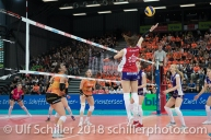 Laura UNTERNAEHRER (Volero Zurich #17) im Schweizer Cup Final zwischen Viteos NUC Neuchatel und Volero Zurich; VOLLEYBALL CUP FINAL 2018 am 31 March, 2018 in Fribourg (St. Leonhard-Halle), Schweiz, Photo Credit: Ulf Schiller / freshfocus
