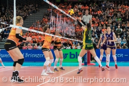 Silvija POPOVIC (Volero Zurich #8) im Schweizer Cup Final zwischen Viteos NUC Neuchatel und Volero Zurich; VOLLEYBALL CUP FINAL 2018 am 31 March, 2018 in Fribourg (St. Leonhard-Halle), Schweiz, Photo Credit: Ulf Schiller / freshfocus