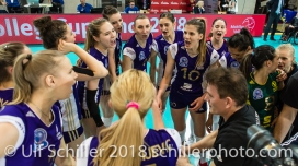 im Schweizer Cup Final zwischen Viteos NUC Neuchatel und Volero Zurich; VOLLEYBALL CUP FINAL 2018 am 31 March, 2018 in Fribourg (St. Leonhard-Halle), Schweiz, Photo Credit: Ulf Schiller / freshfocus