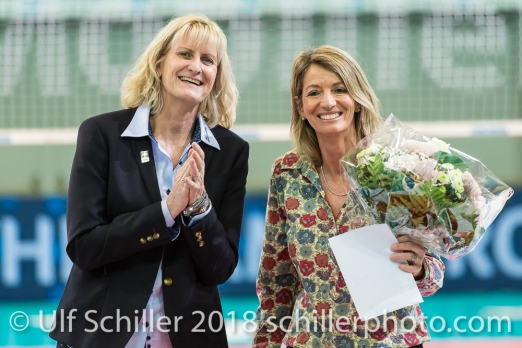 Nachwuchsförderpreis von Swiss Volley fuer Myriam Knutti ; VOLLEYBALL CUP FINAL 2018 am 31 March, 2018 in Fribourg (St. Leonhard-Halle), Schweiz, Photo Credit: Ulf Schiller / freshfocus