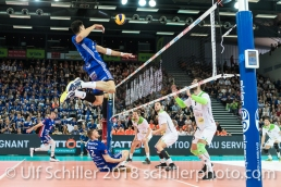 /n12/ im Schweizer Cup Final zwischen Biogas Volley Naefels und Volley Amriswil; VOLLEYBALL CUP FINAL 2018 am 31 March, 2018 in Fribourg (St. Leonhard-Halle), Schweiz, Photo Credit: Ulf Schiller / freshfocus