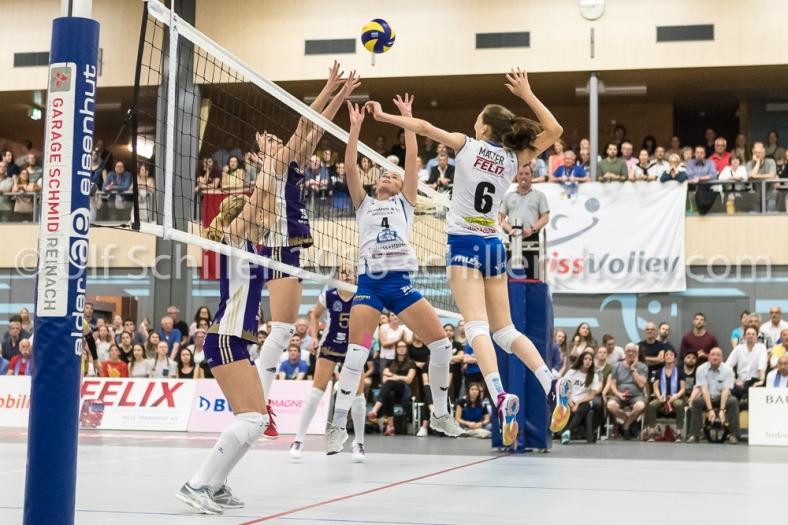 Volleyball NLA 2017/18 Final Frauen Spiel 4 Sm'Aesch Pfeffingen vs Volero Zuerich