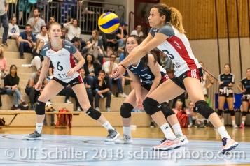 Ines GRANVORKA (TS Volley Duedingen #13); Volleyball, NLA 2017/18,, Spiel 2 um Platz 3:, TS Volley Duedingen vs Kanti Schaffhausen am 18 April, 2018 in Duedingen (Sportzentrum Leimacker), Schweiz, Photo Credit: Ulf Schiller