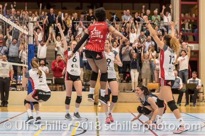 Volleyball, NLA 2017/18, Spiel 2 um Platz 3: TS Volley Duedingen vs Kanti Schaffhausen