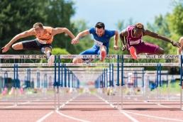 David King, Lorenzo Perini and Hassane Fofana at AthletiCAGeneve 2018