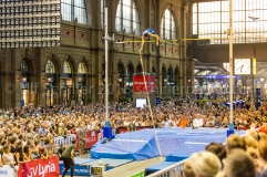 Dominik ALBERTO vaulting in the Zurich Train Station at Weltklasse Zürich