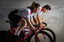 Frank Pasche (Silver European Championships Team Pursuit 2018) and Aline Seitz (World Cup Winner Minsk 2018)