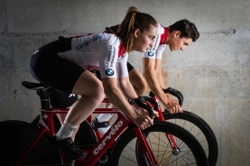 Frank Pasche (Silver European Championships Team Pursuit 2018) and Aline Seitz (World Cup Winner Minsk 2018)