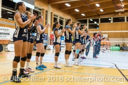 Powercats Volleyball NLA 2018-2019 TS Volley Duedingen vs Viteos NUC am 17.10.18 im Sportzentrum Leimacker in Duedingen (Schweiz).