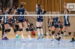 Volley Duedingen Volleyball NLA 2018-2019 TS Volley Duedingen vs Viteos NUC am 17.10.18 im Sportzentrum Leimacker in Duedingen (Schweiz).