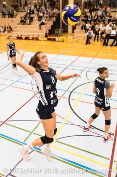 Samira Sulser (Volley Duedingen #8) Volleyball Preseason 2018-19 Testmatch am 06.10.18 im Sportzentrum Leimacker in Duedingen (Schweiz).