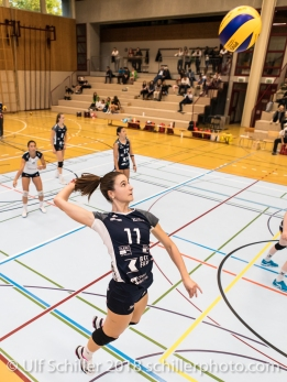 Sarina Brunner (Volley Duedingen #11) Volleyball Preseason 2018-19 Testmatch am 06.10.18 im Sportzentrum Leimacker in Duedingen (Schweiz).