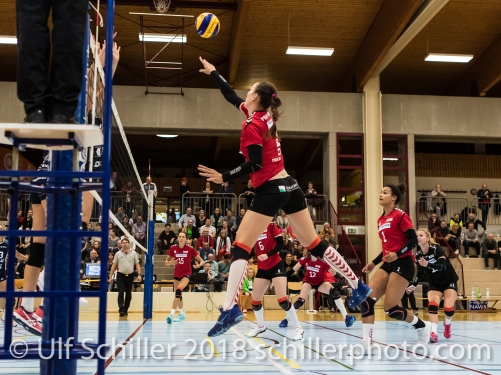Daria Przybylak (Rote Raben Vilsbiburg #2) Volleyball Preseason 2018-19 Testmatch am 06.10.18 im Sportzentrum Leimacker in Duedingen (Schweiz).