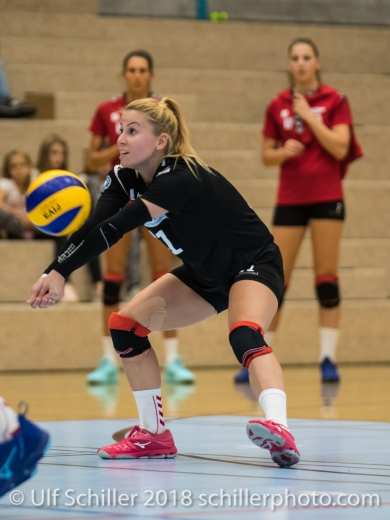 Noemi Portmann (Volley Duedingen #1) Volleyball Preseason 2018-19 Testmatch am 06.10.18 im Sportzentrum Leimacker in Duedingen (Schweiz).