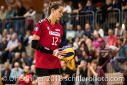 Maria Dancheva (Rote Raben Vilsbiburg #12) Volleyball Preseason 2018-19 Testmatch am 06.10.18 im Sportzentrum Leimacker in Duedingen (Schweiz).