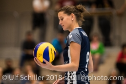 Kristel Marbach (Volley Duedingen #9) Volleyball Preseason 2018-19 Testmatch am 06.10.18 im Sportzentrum Leimacker in Duedingen (Schweiz).