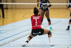 Vanessa Agbortabi (Rote Raben Vilsbiburg #1) Volleyball Preseason 2018-19 Testmatch am 06.10.18 im Sportzentrum Leimacker in Duedingen (Schweiz).