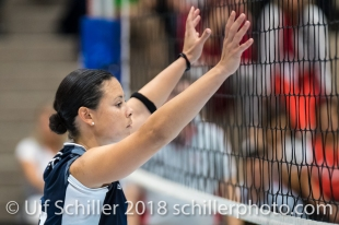 Sabel Moffett (Volley Duedingen #17) Volleyball Preseason 2018-19 Testmatch am 06.10.18 im Sportzentrum Leimacker in Duedingen (Schweiz).