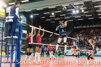 2-429 TS Volley DUEDINGEN vs Fatum NYIREGYHAZA (CEV Cup 1/16th final) on November 28, 2018 at Salle St Leonard in FRIBOURG (Switzerland).