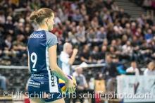 Kristel Marbach (Volley Duedingen #9) 2-429 TS Volley DUEDINGEN vs Fatum NYIREGYHAZA (CEV Cup 1/16th final) on November 28, 2018 at Salle St Leonard in FRIBOURG (Switzerland).