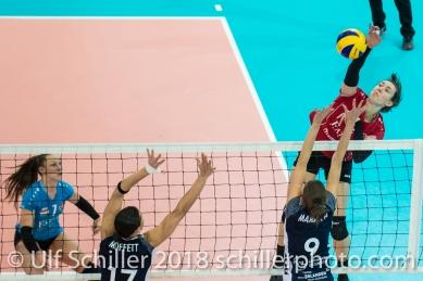 BRISEBOIS Danielle (Fatum NYIREGYHAZA, #2) 2-429 TS Volley DUEDINGEN vs Fatum NYIREGYHAZA (CEV Cup 1/16th final) on November 28, 2018 at Salle St Leonard in FRIBOURG (Switzerland).
