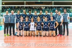 Team picture Volley Duedingen 2-429 TS Volley DUEDINGEN vs Fatum NYIREGYHAZA (CEV Cup 1/16th final) on November 28, 2018 at Salle St Leonard in FRIBOURG (Switzerland).