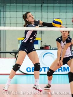 Sarina Brunner (Volley Duedingen #11) 2-429 TS Volley DUEDINGEN vs Fatum NYIREGYHAZA (CEV Cup 1/16th final) on November 28, 2018 at Salle St Leonard in FRIBOURG (Switzerland).