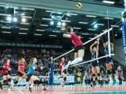 MEDIC Olivera (Fatum NYIREGYHAZA, #9) 2-429 TS Volley DUEDINGEN vs Fatum NYIREGYHAZA (CEV Cup 1/16th final) on November 28, 2018 at Salle St Leonard in FRIBOURG (Switzerland).