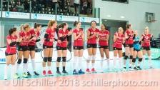 The winning team Fatum NYIREGYHAZA 2-429 TS Volley DUEDINGEN vs Fatum NYIREGYHAZA (CEV Cup 1/16th final) on November 28, 2018 at Salle St Leonard in FRIBOURG (Switzerland).