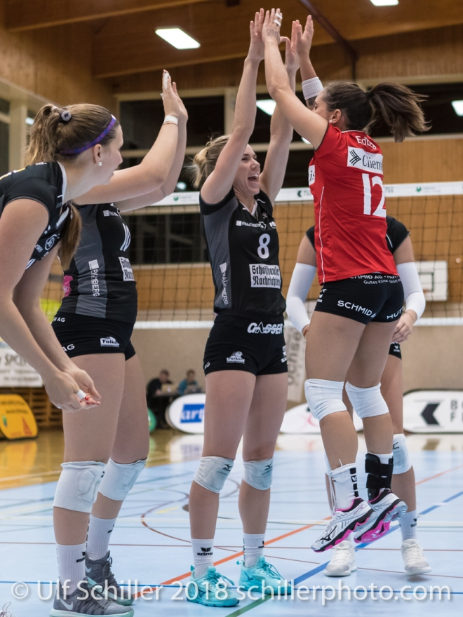 Volleyball NLA 2018-19, Qualifikationsrunde, TS Volley Duedingen vs VC Kanti Schaffhausen