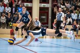 Thays Deprati (Volley Duedingen #5) Volleyball NLA 2018-2019 TS Volley Duedingen vs Viteos NUC am 17.10.18 im Sportzentrum Leimacker in Duedingen (Schweiz).