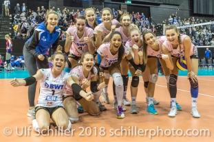 After losing the away match, Sm'Aesch Pfeffingen beat VC OUDEGEM 4-0 (including the Golden Set) Volleyball CEV Cup 2018-19 SmAESCH PFEFFINGEN (SUI) vs VC OUDEGEM (BEL) on December 5, 2018 at St Jakobs Halle in Basel (Switzerland).
