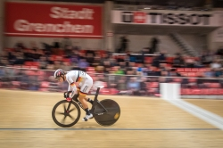 The Olympic Champion and multiple World Champion WELTE Miriam, FKA - 1. FC KAISERSLAUTERN, GER racing in the Tissot Velodrome Grenchen UCI Track Cycling Challenge C1 on December 20, 2018 at Tissot Velodrome in Grenchen (Switzerland).