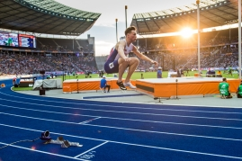 Karsten Warholm (NOR) 400 m Hurdles / Huerden European Athletics Championships am 07.08.18 im Olympiastadion in Berlin (Deutschland). European Athletics Championships on 07.08.18 at the Olympic Stadium in Berlin, Germany. Photo Credit: Ulf Schiller / ATHLETIX.CH