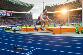 Karsten Warholm (NOR) 400 m Hurdles / Huerden European Athletics Championships am 07.08.18 im Olympiastadion in Berlin (Deutschland). European Athletics Championships on 07.08.18 at the Olympic Stadium in Berlin, Germany. Photo Credit: Ulf Schiller / ATHLETIX.CH