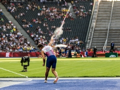 Martin Roe (NOR) Speerwurf / javelin throw Zehnkampf / decathlon European Athletics Championships am 08.08.18 im Olympiastadion in Berlin (Deutschland). European Athletics Championships on 08.08.18 at the Olympic Stadium in Berlin, Germany. Photo Credit: Ulf Schiller / ATHLETIX.CH