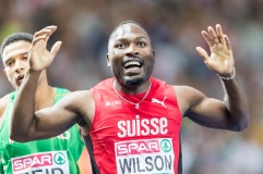 Alex Wilson (SUI) gewinnt Bronze ueber 200 m European Athletics Championships am 09.08.18 im Olympiastadion in Berlin (Deutschland). European Athletics Championships on 09.08.18 at the Olympic Stadium in Berlin, Germany. Photo Credit: Ulf Schiller / ATHLETIX.CH