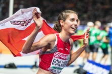 Fabienne Schlumpf (SUI) gewinnt Silber ueber 3000 m Steeple European Athletics Championships am 12.08.18 im Olympiastadion in Berlin (Deutschland). European Athletics Championships on 12.08.18 at the Olympic Stadium in Berlin, Germany. Photo Credit: Ulf Schiller / ATHLETIX.CH