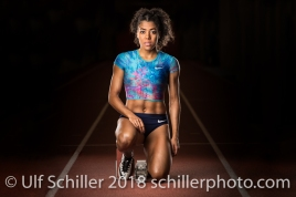Mujinga Kambundji - Shooting am 16 March, 2018 in Bern (Wankdorf), Schweiz, Photo Credit: Ulf Schiller (2018)
