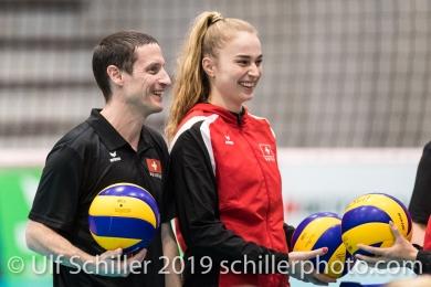 Timo Lippuner (Suisse, Headcoach) und Volleyball European Championship Qualification Women Switzerland vs Austria on January 9, 2019 at Betoncoupe Arena in Schoenenwerd (Switzerland).