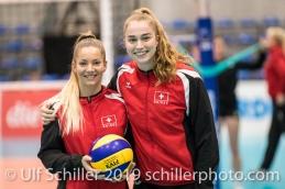 Volleyball European Championship Qualification Women Switzerland vs Austria on January 9, 2019 at Betoncoupe Arena in Schoenenwerd (Switzerland).
