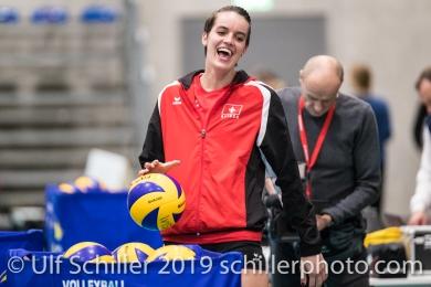 SCHOTTROFF Gabi (Suisse, #4) Volleyball European Championship Qualification Women Switzerland vs Austria on January 9, 2019 at Betoncoupe Arena in Schoenenwerd (Switzerland).